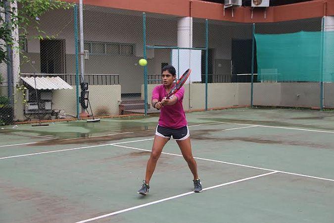 Goodwill Ambassador Natasha Palha puts up brave fight at ITF Women's Tennis Tournament