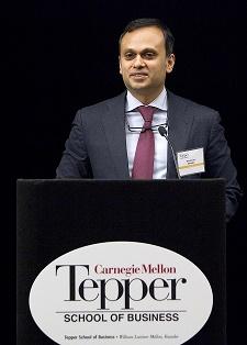 Chairman Shrinivas V. Dempo speaking at the naming of the Professorship