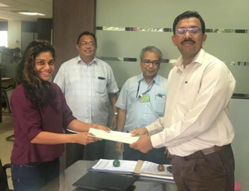 Renewal of  Contract of Goodwill Ambassador Natasha Palha